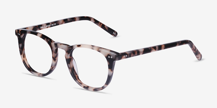 Ona Ivory Tortoise Acetate Eyeglass Frames from EyeBuyDirect, Angle View