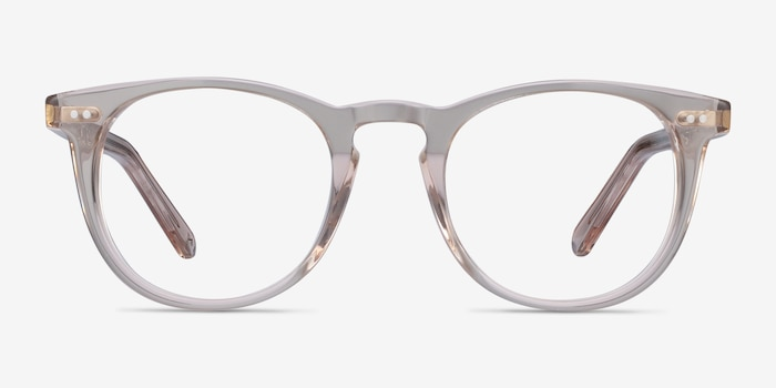 Ona Champagne Acetate Eyeglass Frames from EyeBuyDirect, Front View