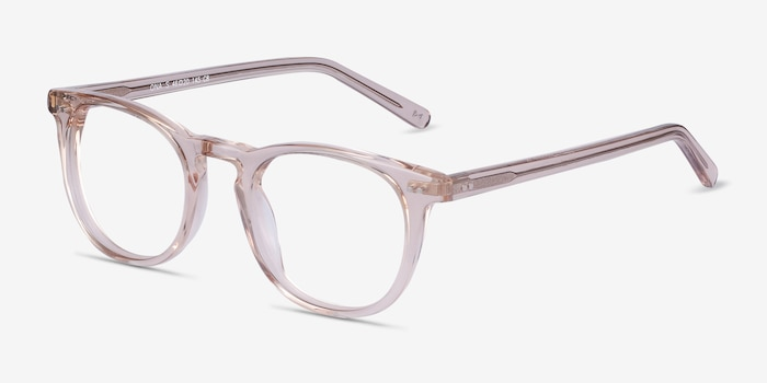 Ona Champagne Acetate Eyeglass Frames from EyeBuyDirect, Angle View