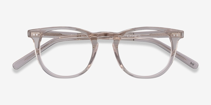 Ona Champagne Acetate Eyeglass Frames from EyeBuyDirect, Closed View