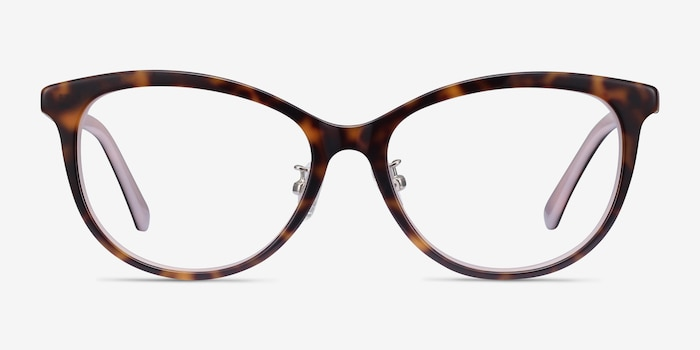 Helena Tortoise Pink Acetate Eyeglass Frames from EyeBuyDirect, Front View