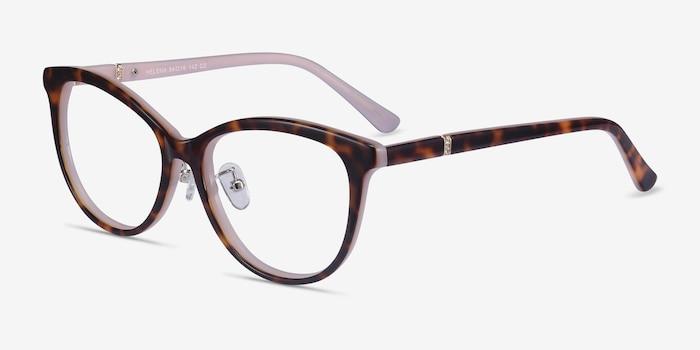 Helena Tortoise Pink Acetate Eyeglass Frames from EyeBuyDirect, Angle View