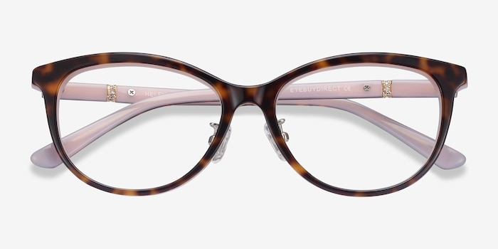 Helena Tortoise Pink Acetate Eyeglass Frames from EyeBuyDirect, Closed View