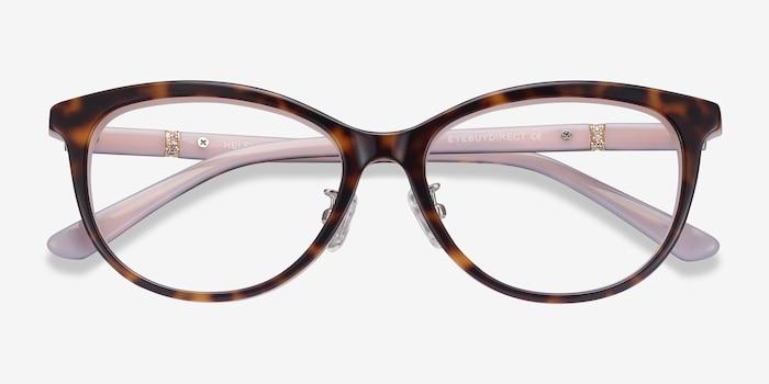 Helena Tortoise Pink Acetate Eyeglass Frames from EyeBuyDirect, Closed View