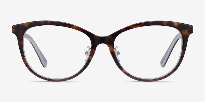 Helena Tortoise Acetate Eyeglass Frames from EyeBuyDirect, Front View