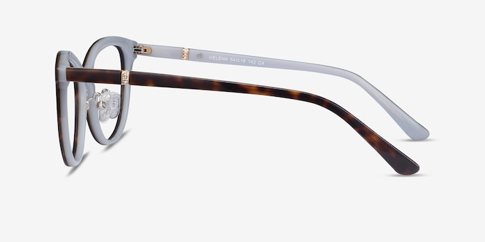 Helena Tortoise Acetate Eyeglass Frames from EyeBuyDirect, Side View