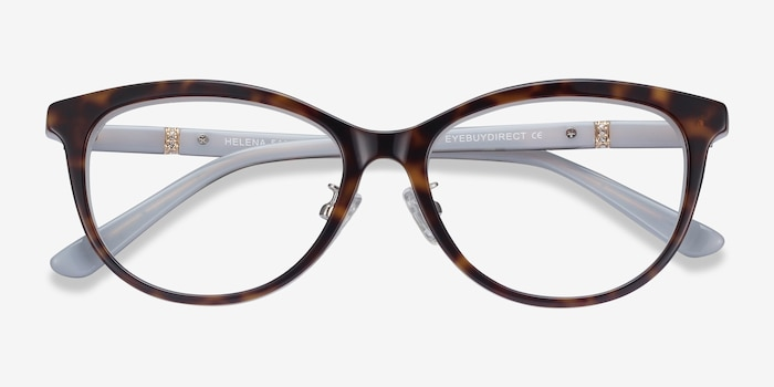 Helena Tortoise Acetate Eyeglass Frames from EyeBuyDirect, Closed View