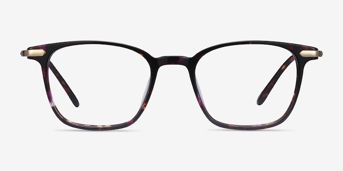 Cinema Floral Acetate Eyeglass Frames from EyeBuyDirect, Front View