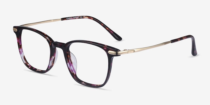 Cinema Floral Acetate Eyeglass Frames from EyeBuyDirect, Angle View