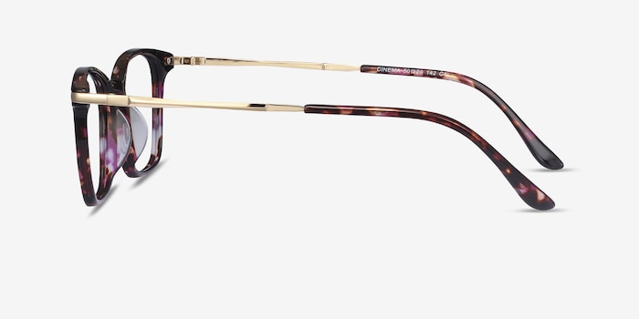 Cinema Floral Acetate Eyeglass Frames from EyeBuyDirect, Side View
