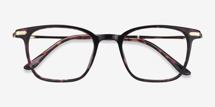 Cinema Floral Acetate Eyeglass Frames from EyeBuyDirect, Closed View