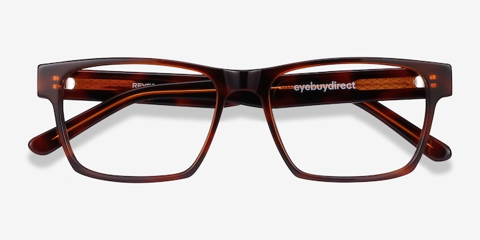 Reyes Brown Acetate Eyeglass Frames from EyeBuyDirect, Closed View