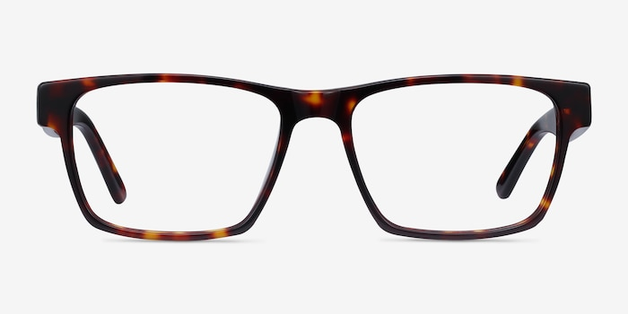Reyes Tortoise Acetate Eyeglass Frames from EyeBuyDirect, Front View