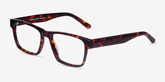 Reyes Tortoise Acetate Eyeglass Frames from EyeBuyDirect, Angle View