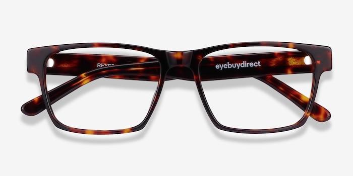 Reyes Tortoise Acetate Eyeglass Frames from EyeBuyDirect, Closed View