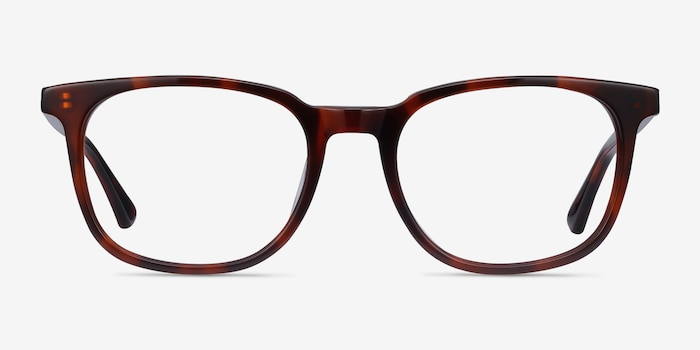 Seasons Brown Tortoise Acetate Eyeglass Frames from EyeBuyDirect, Front View