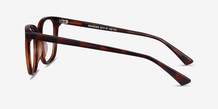 Seasons Brown Tortoise Acetate Eyeglass Frames from EyeBuyDirect, Side View