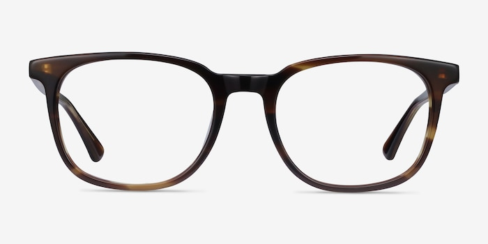 Seasons Tortoise Acetate Eyeglass Frames from EyeBuyDirect, Front View