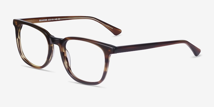 Seasons Tortoise Acetate Eyeglass Frames from EyeBuyDirect, Angle View
