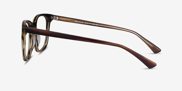 Seasons Tortoise Acetate Eyeglass Frames from EyeBuyDirect, Side View