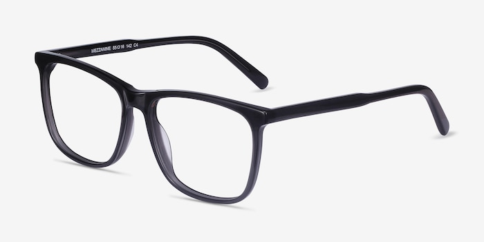 Mezzanine Gray Acetate Eyeglass Frames from EyeBuyDirect, Angle View