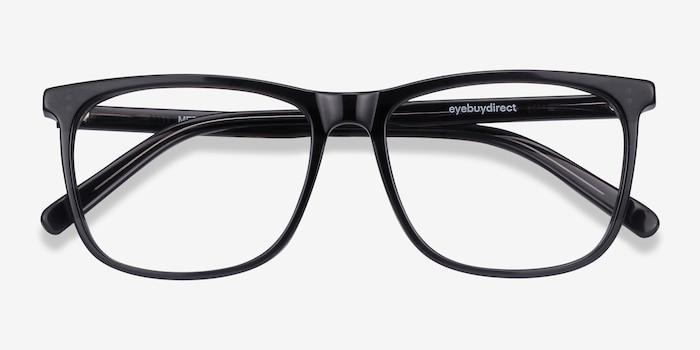 Mezzanine Gray Acetate Eyeglass Frames from EyeBuyDirect, Closed View