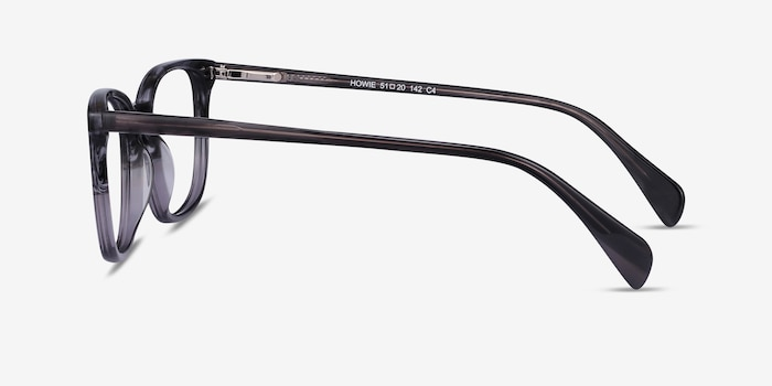 Howie Gray Striped Acetate Eyeglass Frames from EyeBuyDirect, Side View
