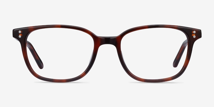 Rena Brown Tortoise Acetate Eyeglass Frames from EyeBuyDirect, Front View