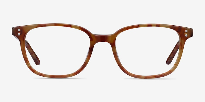 Rena Light Tortoise Acetate Eyeglass Frames from EyeBuyDirect, Front View