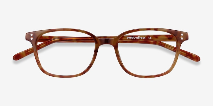 Rena Light Tortoise Acetate Eyeglass Frames from EyeBuyDirect, Closed View