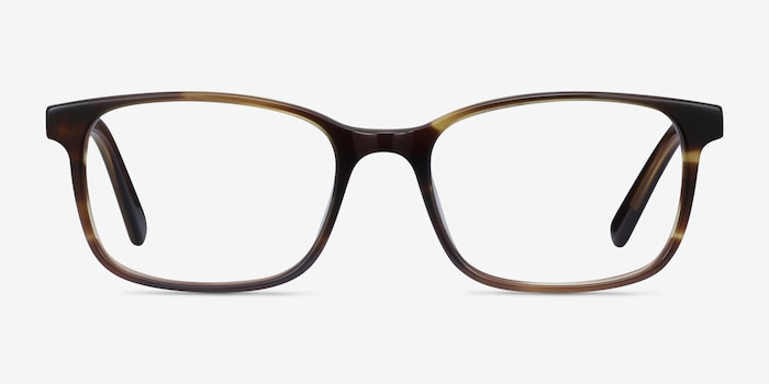 Collective Tortoise Acetate Eyeglass Frames from EyeBuyDirect, Front View