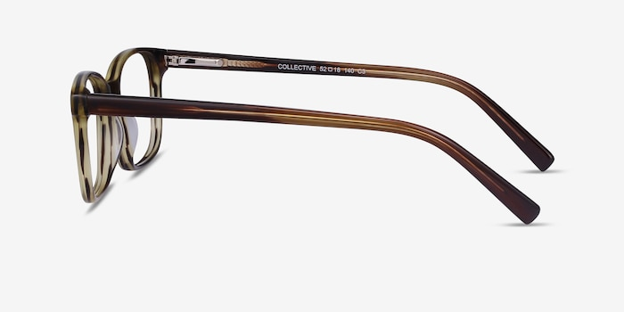 Collective Tortoise Acetate Eyeglass Frames from EyeBuyDirect, Side View