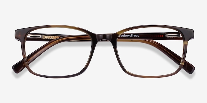 Collective Tortoise Acetate Eyeglass Frames from EyeBuyDirect, Closed View