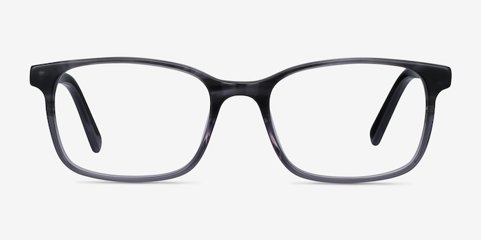 Collective Gray Acetate Eyeglass Frames from EyeBuyDirect, Front View