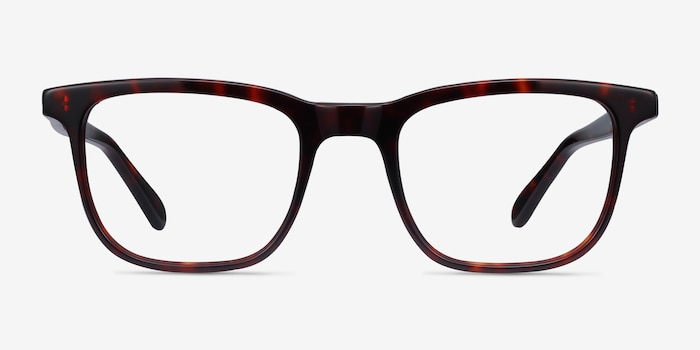 Ville Tortoise Acetate Eyeglass Frames from EyeBuyDirect, Front View