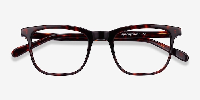 Ville Tortoise Acetate Eyeglass Frames from EyeBuyDirect, Closed View