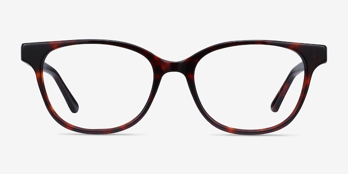 Patra Tortoise Acetate Eyeglass Frames from EyeBuyDirect, Front View