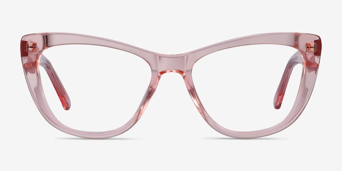 Little Charlotte Pink Acetate Eyeglass Frames from EyeBuyDirect, Front View