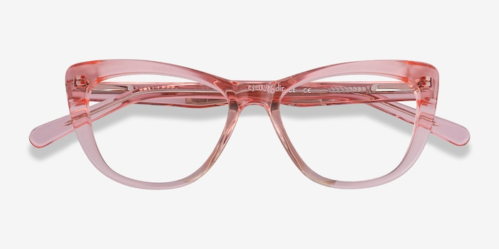 Little Charlotte Pink Acetate Eyeglass Frames from EyeBuyDirect, Closed View