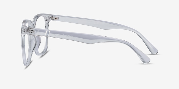 Piano Clear Plastic Eyeglass Frames from EyeBuyDirect, Side View