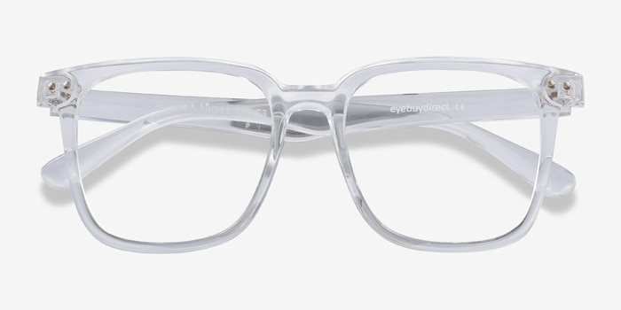 Piano Clear Plastic Eyeglass Frames from EyeBuyDirect, Closed View