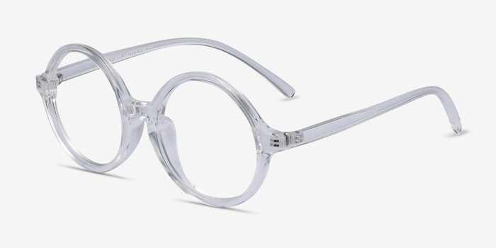 Little Years Clear Plastic Eyeglass Frames from EyeBuyDirect, Angle View