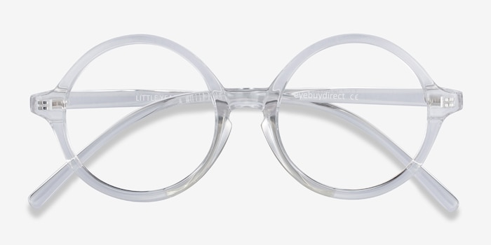 Little Years Clear Plastic Eyeglass Frames from EyeBuyDirect, Closed View