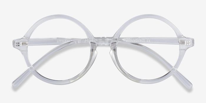 Little Years Transparent Plastique Montures de Lunettes d'EyeBuyDirect, Vue Rapprochée
