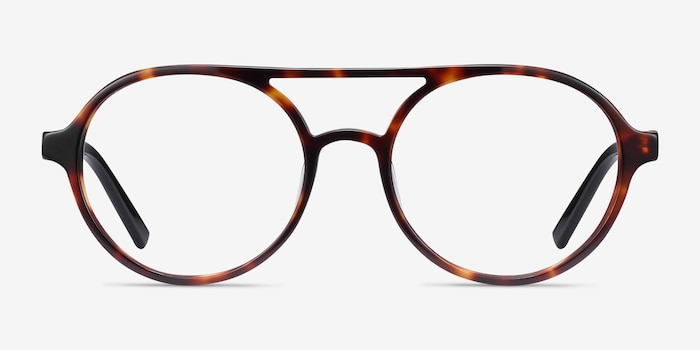 Elevate Tortoise Acetate Eyeglass Frames from EyeBuyDirect, Front View