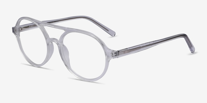 Elevate Clear Acetate Eyeglass Frames from EyeBuyDirect, Angle View