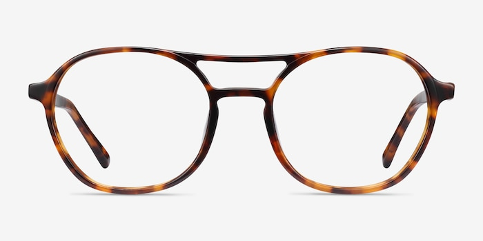 Higher Tortoise Acetate Eyeglass Frames from EyeBuyDirect, Front View