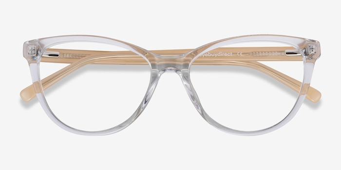 Sing Clear Yellow Acetate Eyeglass Frames from EyeBuyDirect, Closed View