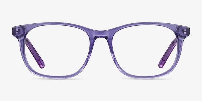 Steps Purple Acetate Eyeglass Frames from EyeBuyDirect, Front View