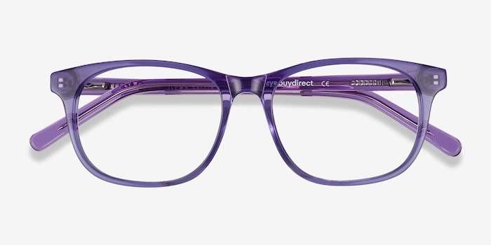 Steps Purple Acetate Eyeglass Frames from EyeBuyDirect, Closed View